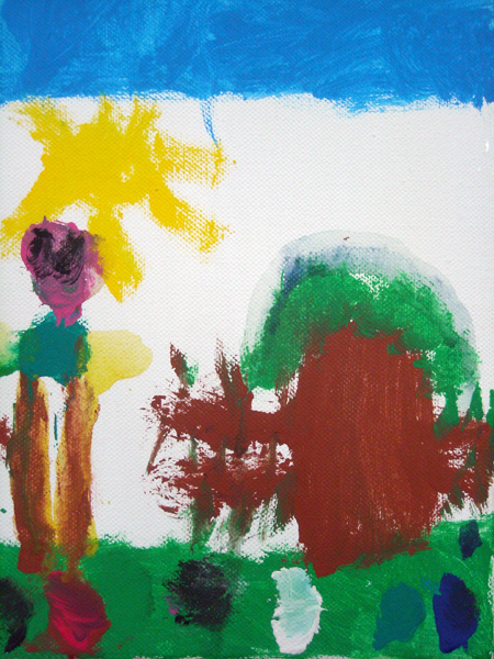 'Alberto in the sun' by Alberto Cifelli, 5 years old